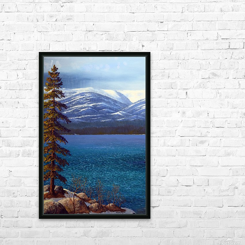 Lake Tahoe 1 HD Sublimation Metal print with Decorating Float Frame (BOX)