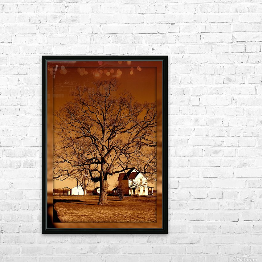 Magnificent Tree HD Sublimation Metal print with Decorating Float Frame (BOX)