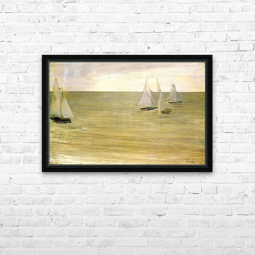 Grey and green the silver sea by Whistler HD Sublimation Metal print with Decorating Float Frame (BOX)