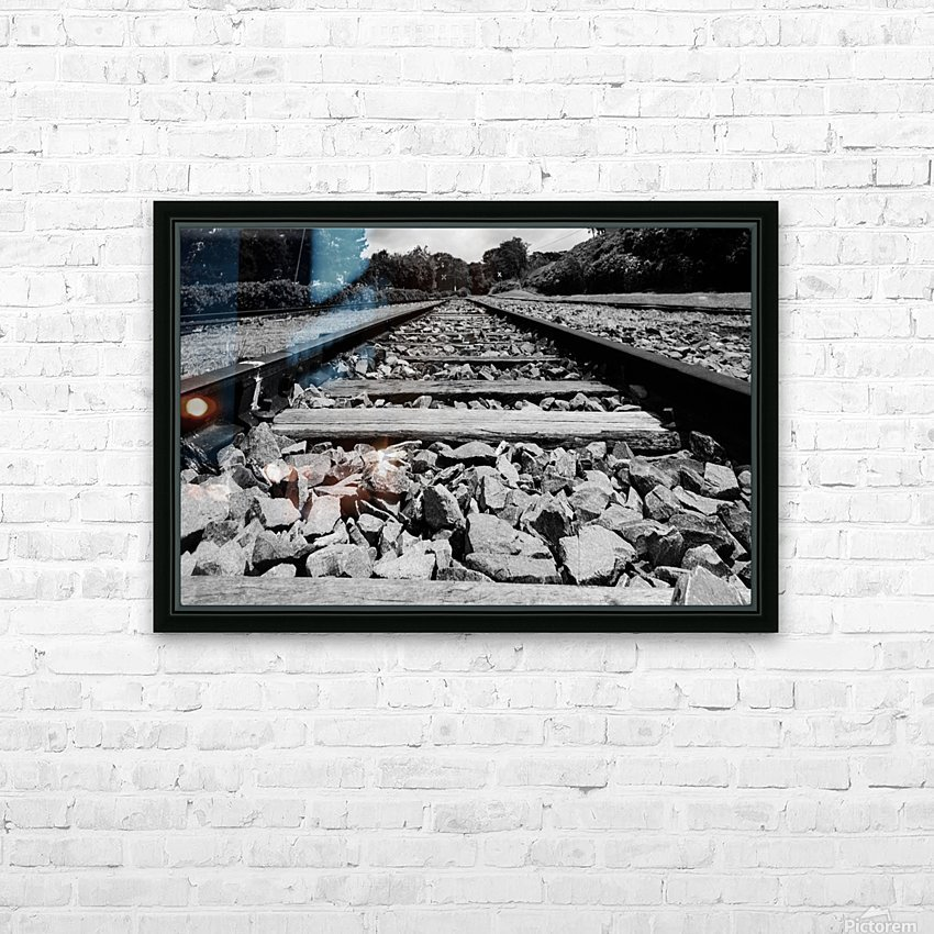 Rails to the future HD Sublimation Metal print with Decorating Float Frame (BOX)