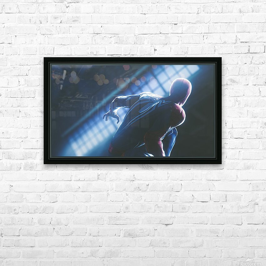 Marvels Spider-Man HD Sublimation Metal print with Decorating Float Frame (BOX)