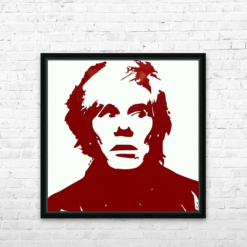 Andy Warhol HD Sublimation Metal print with Decorating Float Frame (BOX)
