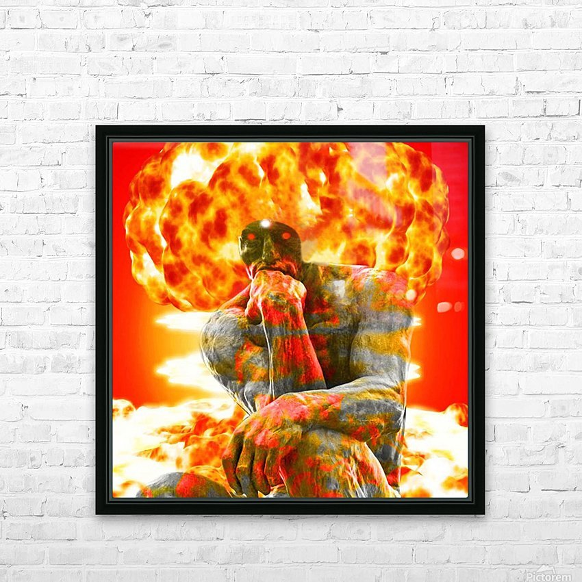 Brainstorm HD Sublimation Metal print with Decorating Float Frame (BOX)