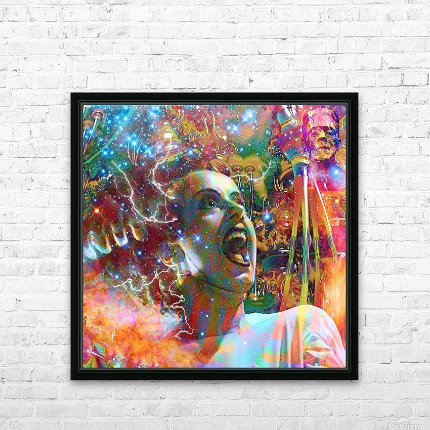 Bride of Frankenstein HD Sublimation Metal print with Decorating Float Frame (BOX)