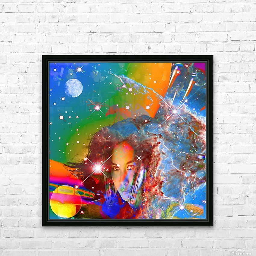 Cosmic Dream HD Sublimation Metal print with Decorating Float Frame (BOX)
