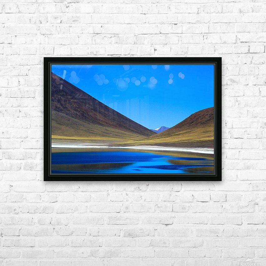 Laguna Meñiques HD Sublimation Metal print with Decorating Float Frame (BOX)