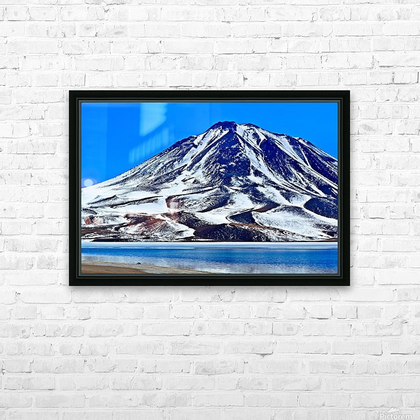 Laguna Miscanti HD Sublimation Metal print with Decorating Float Frame (BOX)