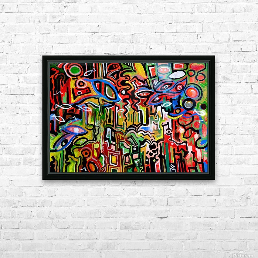 Abstract painting 1 2018 HD Sublimation Metal print with Decorating Float Frame (BOX)