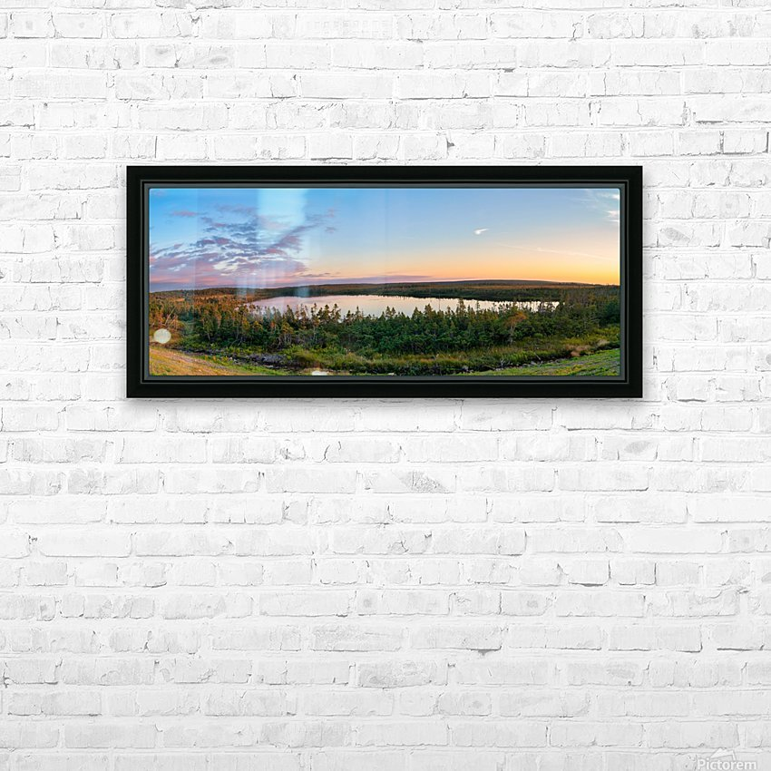 French Lake Sunset HD Sublimation Metal print with Decorating Float Frame (BOX)