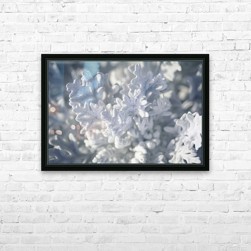 Seaside Cineraria HD Sublimation Metal print with Decorating Float Frame (BOX)