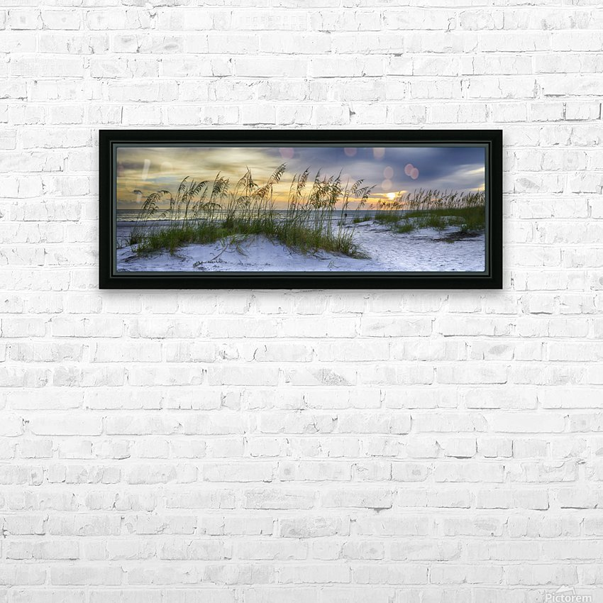 Sunset over Holmes Beach HD Sublimation Metal print with Decorating Float Frame (BOX)