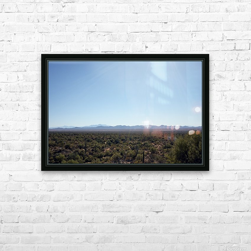 Saguaro Golden Hours 4 HD Sublimation Metal print with Decorating Float Frame (BOX)