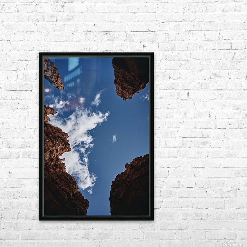 Zion from Below HD Sublimation Metal print with Decorating Float Frame (BOX)