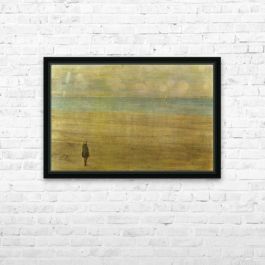 Harmony in blue and silver Trouville by Whistler HD Sublimation Metal print with Decorating Float Frame (BOX)