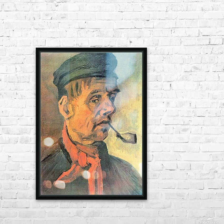 Head of a farmer with a clay pipe by Van Gogh HD Sublimation Metal print with Decorating Float Frame (BOX)