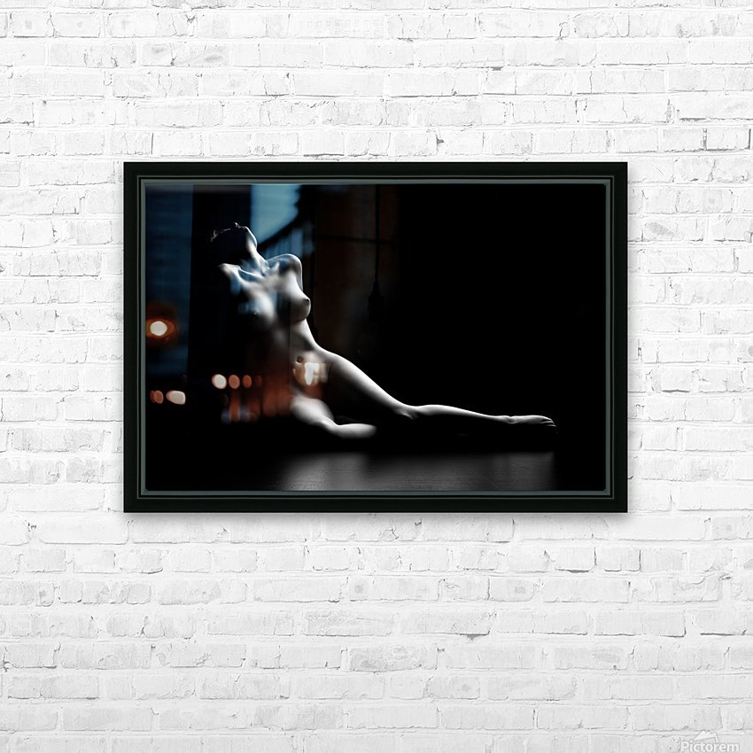 Nude woman bodyscape HD Sublimation Metal print with Decorating Float Frame (BOX)