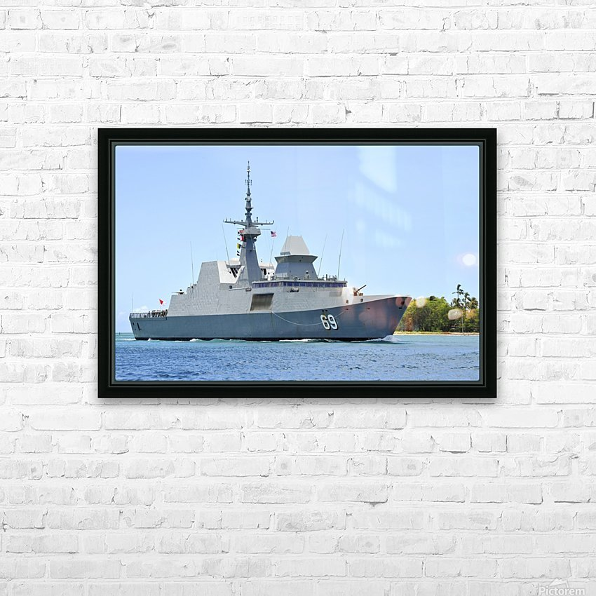 The Singapore frigate RSS Intrepid. HD Sublimation Metal print with Decorating Float Frame (BOX)