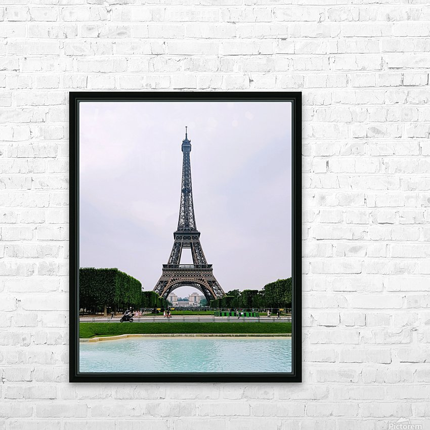 Eiffel from a distance HD Sublimation Metal print with Decorating Float Frame (BOX)
