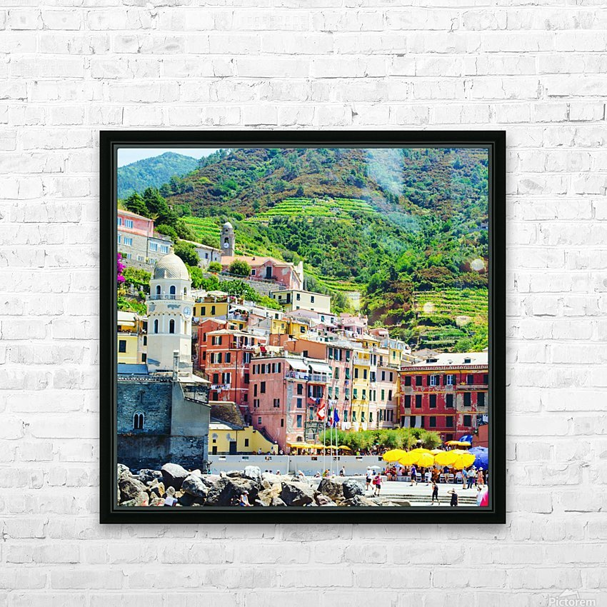 Colorful village of Cinque Terre HD Sublimation Metal print with Decorating Float Frame (BOX)