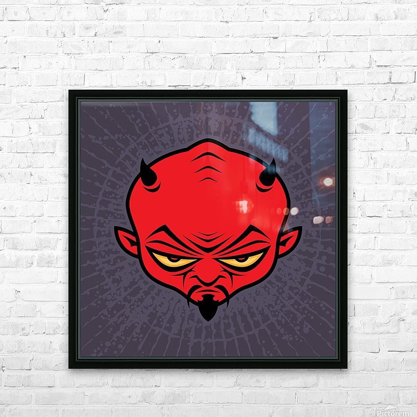 Devil Dude HD Sublimation Metal print with Decorating Float Frame (BOX)