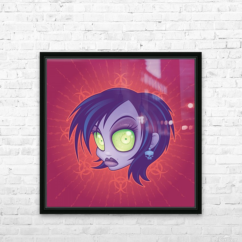 Living Dead Girl HD Sublimation Metal print with Decorating Float Frame (BOX)