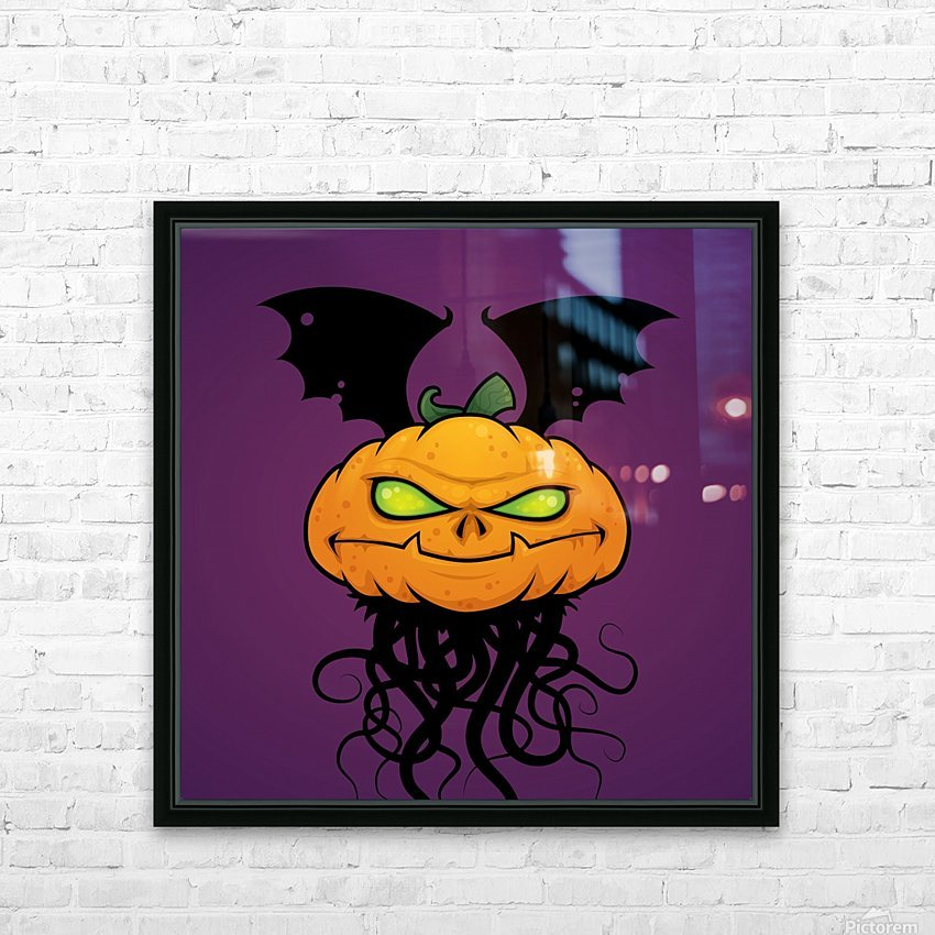 Punkin Monsta HD Sublimation Metal print with Decorating Float Frame (BOX)