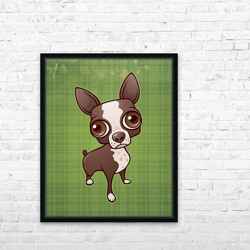 Zippy the Boston Terrier HD Sublimation Metal print with Decorating Float Frame (BOX)