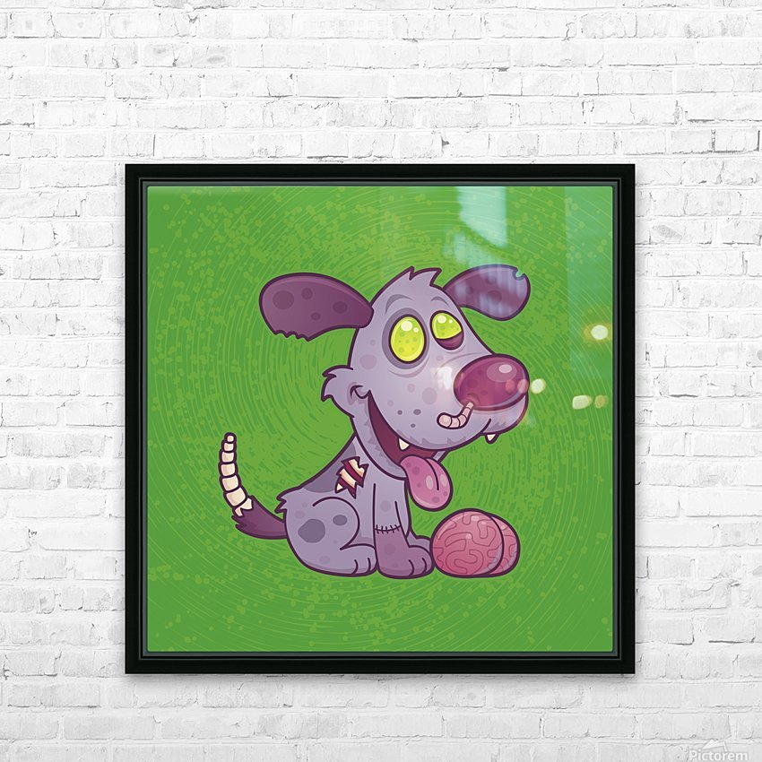 Zombie Puppy HD Sublimation Metal print with Decorating Float Frame (BOX)