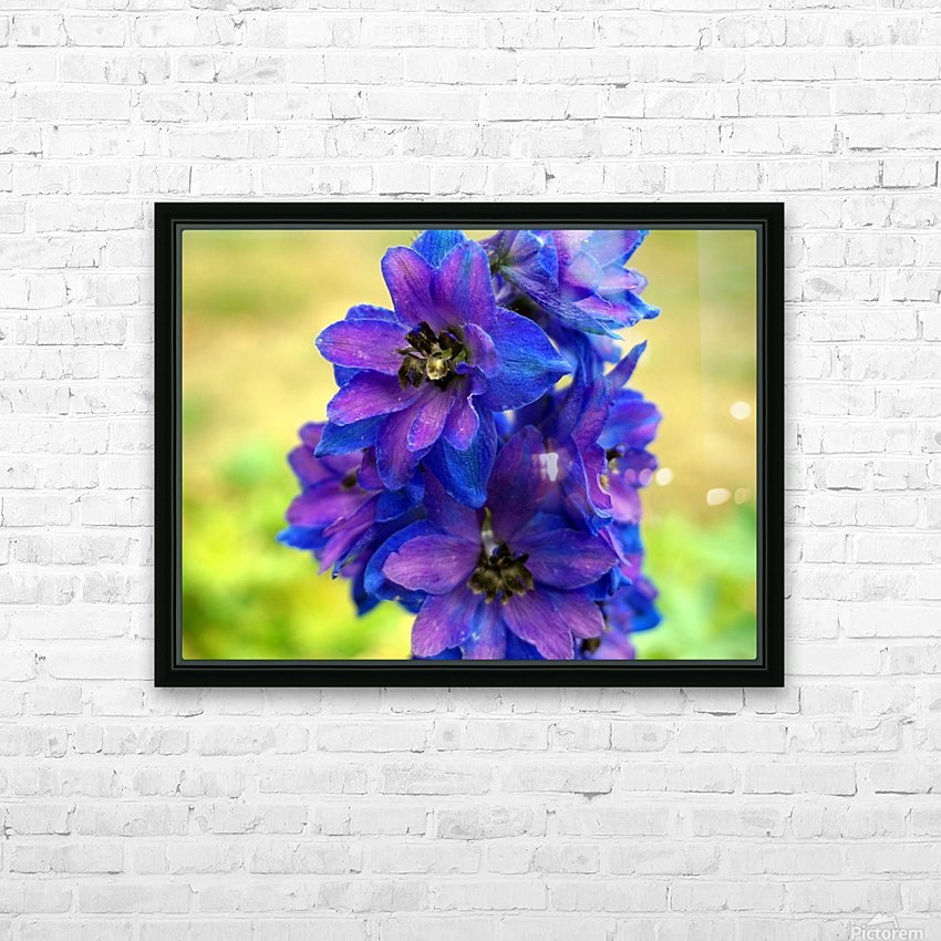 Purple And Blue HD Sublimation Metal print with Decorating Float Frame (BOX)