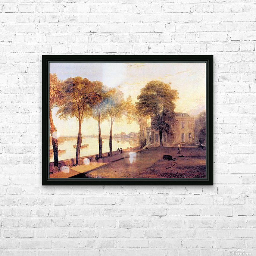 Home of William Moffatt by Joseph Mallord Turner HD Sublimation Metal print with Decorating Float Frame (BOX)