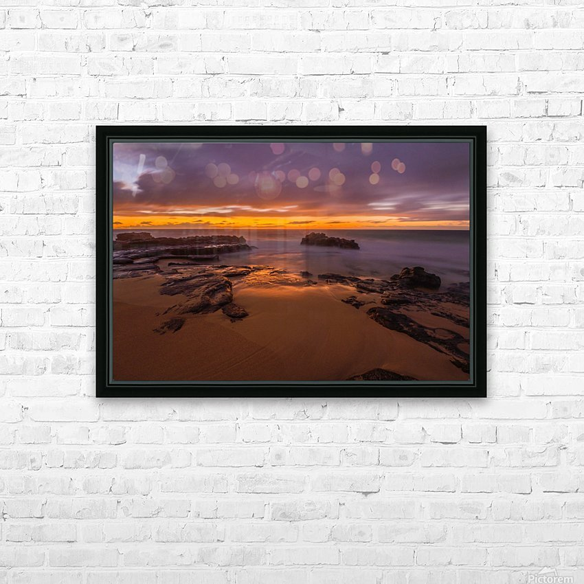 soft water Oahu Hawaii HD Sublimation Metal print with Decorating Float Frame (BOX)