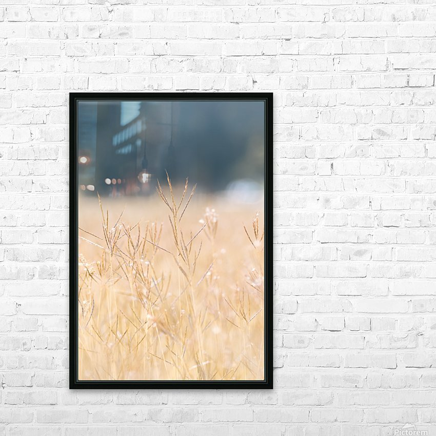 Died grass in field HD Sublimation Metal print with Decorating Float Frame (BOX)