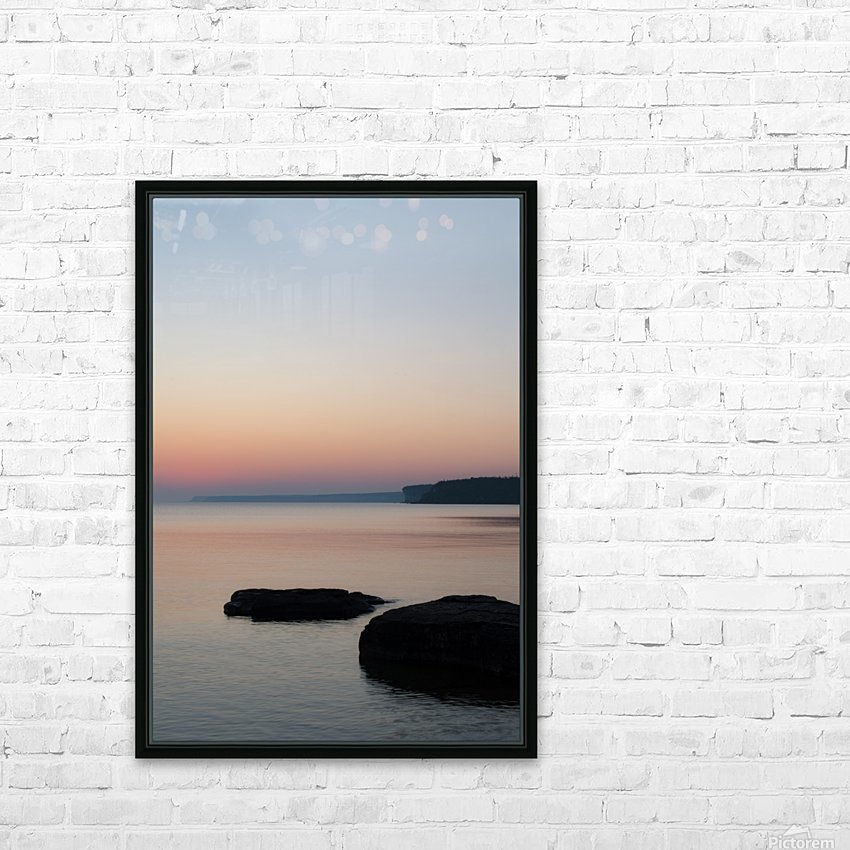 Huron Sunrise 2 HD Sublimation Metal print with Decorating Float Frame (BOX)