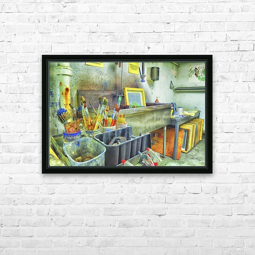 Paintbrushes HD Sublimation Metal print with Decorating Float Frame (BOX)
