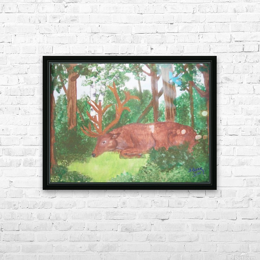 Maine Elk HD Sublimation Metal print with Decorating Float Frame (BOX)