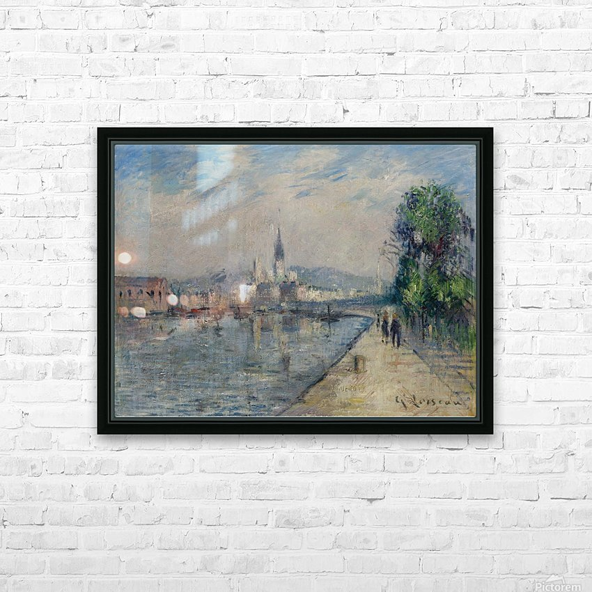 Rouen, Banks of the Seine HD Sublimation Metal print with Decorating Float Frame (BOX)