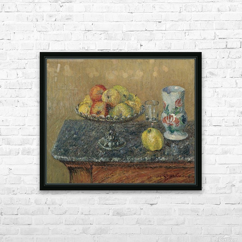 Fruit Bowl with Apples and a Jug HD Sublimation Metal print with Decorating Float Frame (BOX)