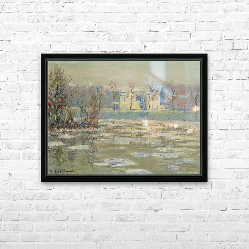 The Oise at Winter HD Sublimation Metal print with Decorating Float Frame (BOX)