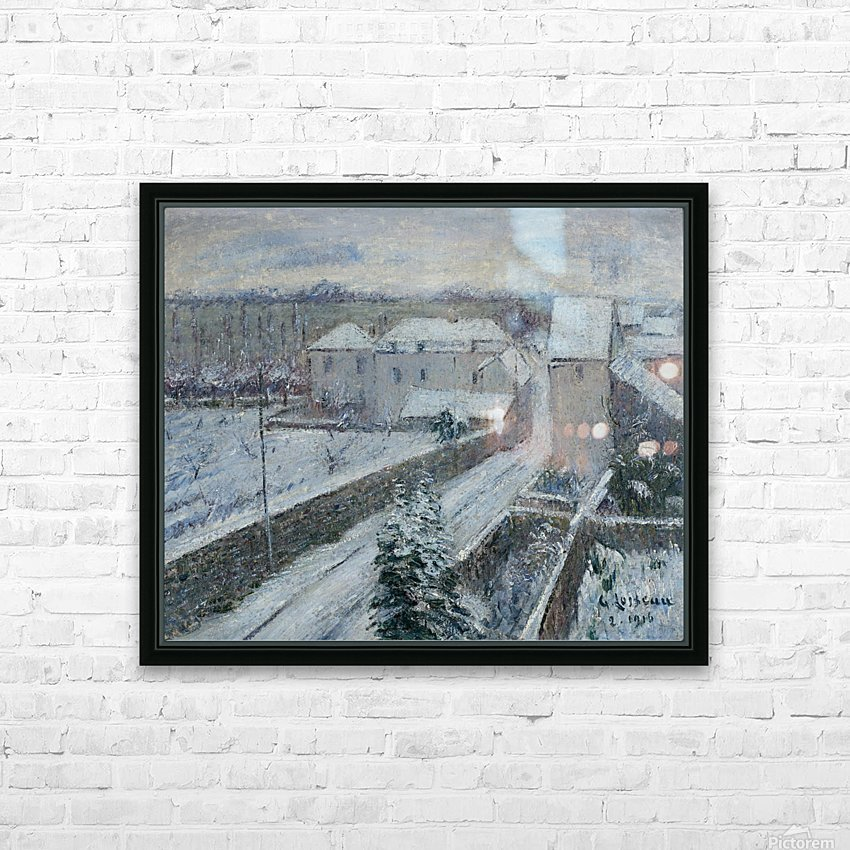 View of Triel under the Snow HD Sublimation Metal print with Decorating Float Frame (BOX)
