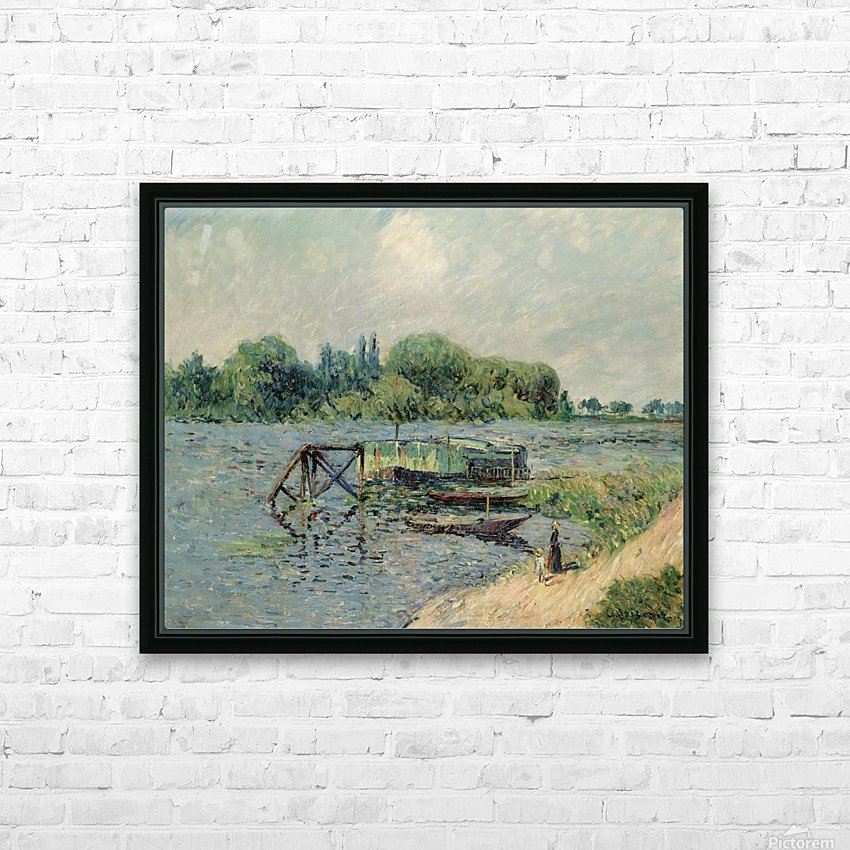 Laun Place on the Seine at Herblay HD Sublimation Metal print with Decorating Float Frame (BOX)