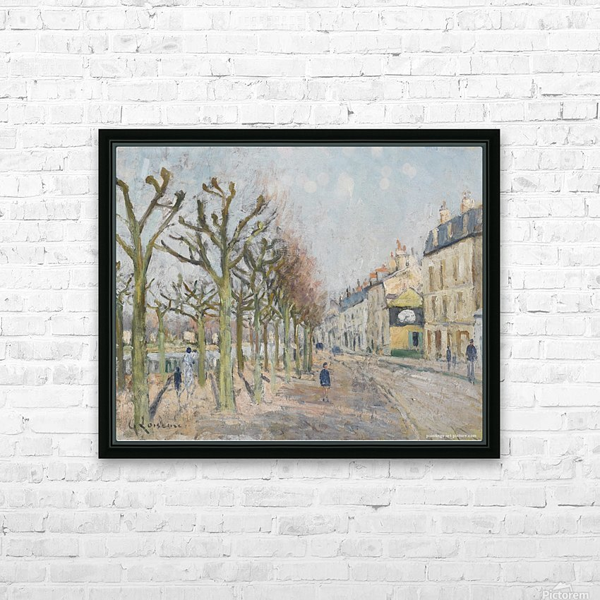 Quay of the River Long, Village, Sun HD Sublimation Metal print with Decorating Float Frame (BOX)