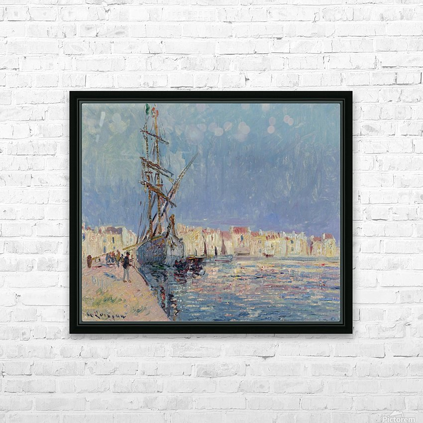 The Martigues, the Port of Ferriere HD Sublimation Metal print with Decorating Float Frame (BOX)