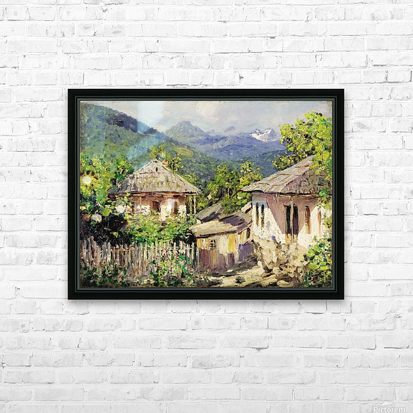 Village Scene HD Sublimation Metal print with Decorating Float Frame (BOX)