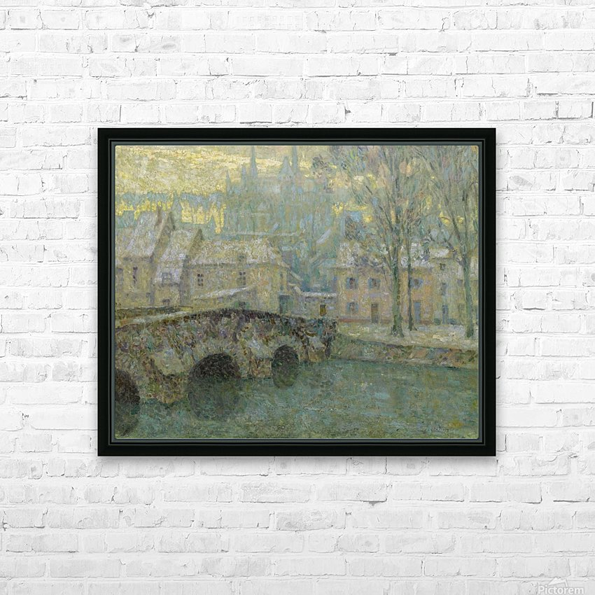 Chartres in Snow HD Sublimation Metal print with Decorating Float Frame (BOX)