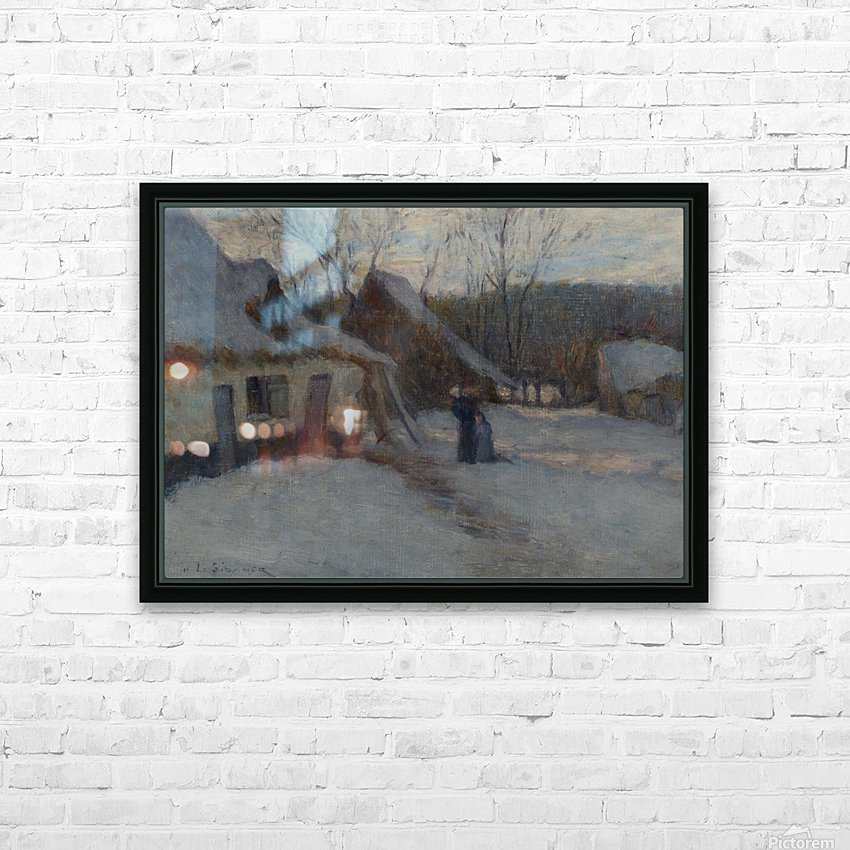 Snowy Landscape, Etaples HD Sublimation Metal print with Decorating Float Frame (BOX)