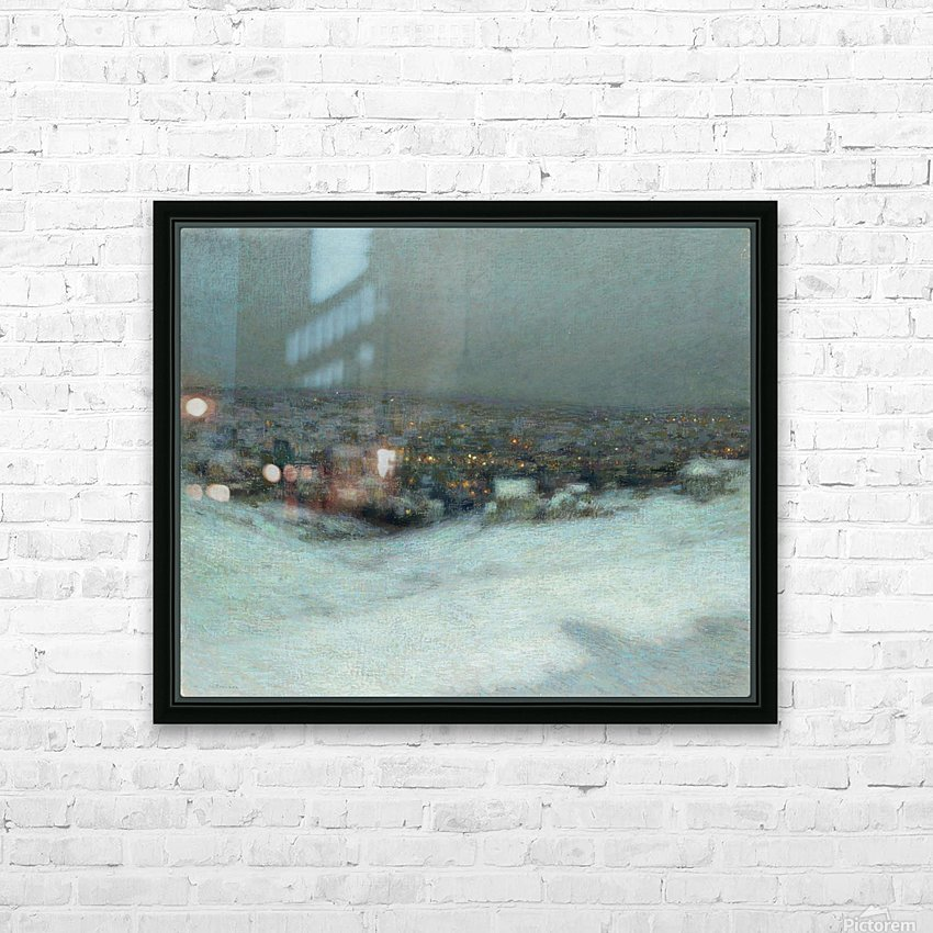 Snow under the Moon HD Sublimation Metal print with Decorating Float Frame (BOX)