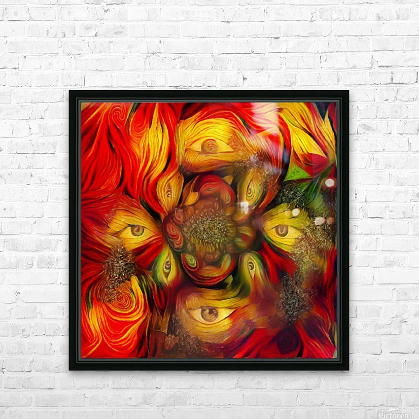 Eyes HD Sublimation Metal print with Decorating Float Frame (BOX)