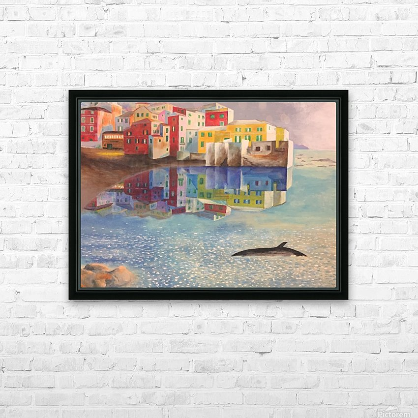 Boccadasse HD Sublimation Metal print with Decorating Float Frame (BOX)