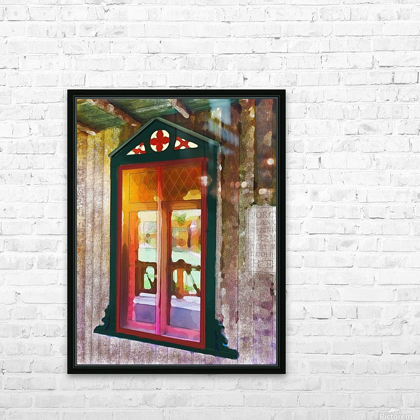 The Hedges Adirondack Window HD Sublimation Metal print with Decorating Float Frame (BOX)