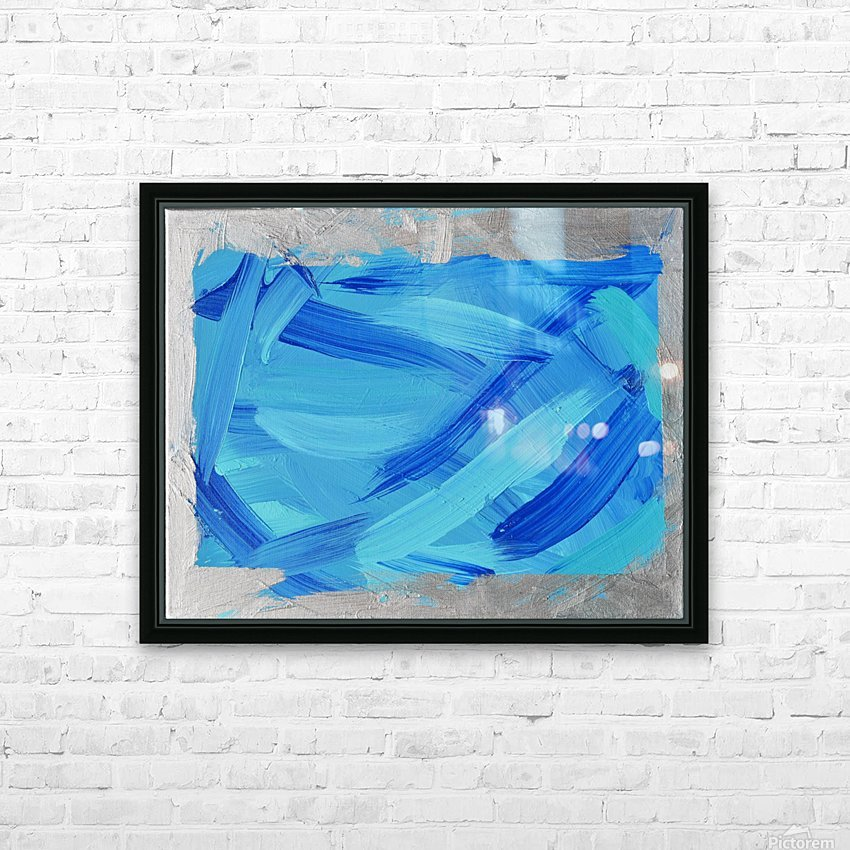 Blue. Walker W. HD Sublimation Metal print with Decorating Float Frame (BOX)